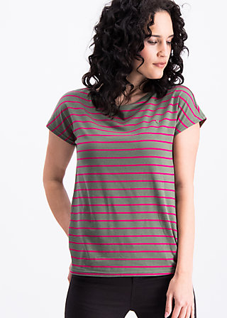 logo stripes marine tee, tough line, Shirts, Grün
