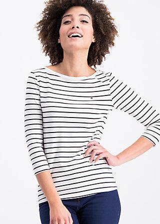 logo stripes sailorette 3/4 shirt, prison line , Shirts, Weiß