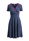 polka lady saloon dress, dots of glory, Jerseykleider, Blau