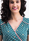 polka lady saloon dress, dots of homeland, Jerseykleider, Türkis