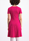 polka lady saloon dress, dots of roses, Jerseykleider, Rot