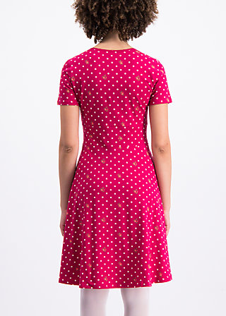 polka lady saloon dress, dots of roses, Dresses, Red