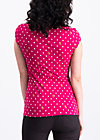 prairie belle shirt, dots of roses, Shortsleeve, Rot