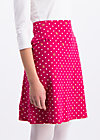 preachers dearest skirt, dots of roses, Jerseyröcke, Rot