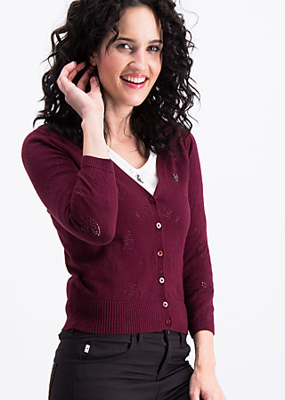 reet petite cardy, bordeaux swan, Jumpers & lightweight Jackets, Red