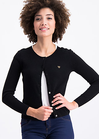 save the brave cardy, lady black, Pullover & leichte Jacken, Schwarz