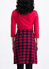 shenandoah sweetheart skirt , round shot , Jerseyröcke, Rot