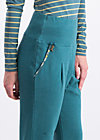 steigbügel feger pants , harvest moon, Trousers, Turquoise