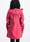 wild weather long anorak, dot and love, Softshell, Rot