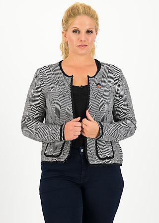 coco club jacket, obsidian black , Pullover & leichte Jacken, Schwarz