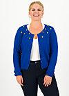 erntefreundin cardigan, bubbles of royal, Pullover & leichte Jacken, Blau
