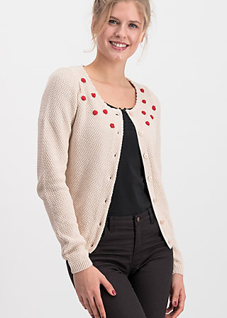 erntefreundin cardigan, bubbles of day, Jumpers & lightweight Jackets, White