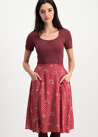 glamourous grace skirt, hillbilly friendship, Röcke, Rot