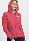 good morning bakerstreet zip, retro pink, Pullover & leichte Jacken, Rot