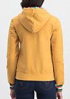 good morning bakerstreet zip, retro yellow, Pullover & leichte Jacken, Gelb