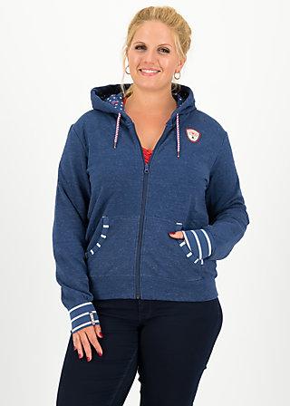 good morning bakerstreet zip, retro blue, Pullover & leichte Jacken, Blau