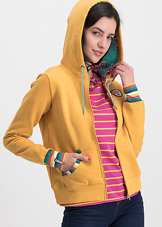 good morning bakerstreet zip, retro yellow, Pullover & leichte Jacken, Gelb
