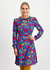 greta in love robe , popping poppy, Dresses, Blue