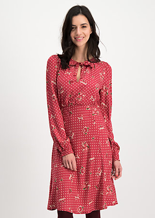 greta in love robe , hillbilly friendship, Dresses, Red