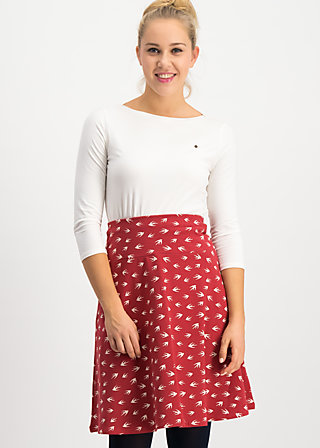 himmelsglocken skirt, oh omaha , Skirts, Red