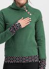 oh so nett sweat, retro green, Pullover & leichte Jacken, Grün