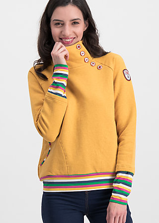 oh so nett sweat, retro yellow, Pullover & leichte Jacken, Gelb
