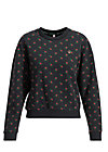 pretty paulette sweat, tiny heart, Pullover & leichte Jacken, Schwarz