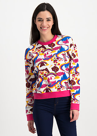 pretty paulette sweat, somewhere over the rainbow , Pullover & leichte Jacken, Weiß