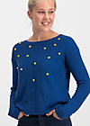sea promenade pullover, bubbles of royal, Jumpers & lightweight Jackets, Blue