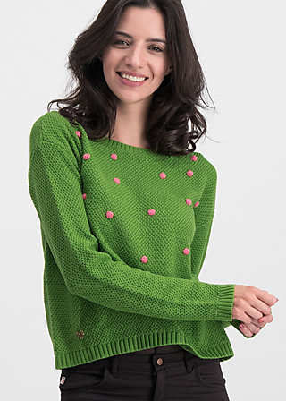 Knitted Jumper sea promenade, bubbles of hope, Cardigans & lightweight Jackets, Green