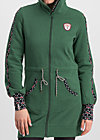 sister next door longjacket, retro green, Pullover & leichte Jacken, Grün