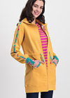 sister next door longjacket, retro yellow, Pullover & leichte Jacken, Gelb