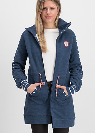 sister next door longjacket, retro blue, Pullover & leichte Jacken, Blau