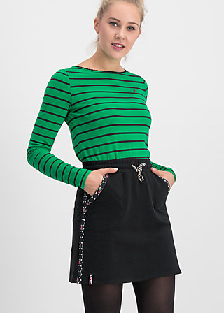 sporty sister skirt, retro black , Röcke, Schwarz