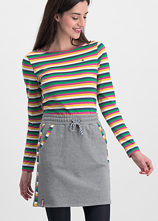 sporty sister skirt, retro grey, Röcke, Grau