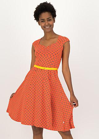 Summer Dress heart on fire, bingo dots, Dresses, Red