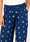 High Waisted Trousers precious ease, let go anchor, Trousers, Blue