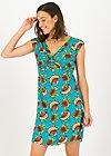 Sommerkleid kap knot, papaya punch, Kleider, Türkis