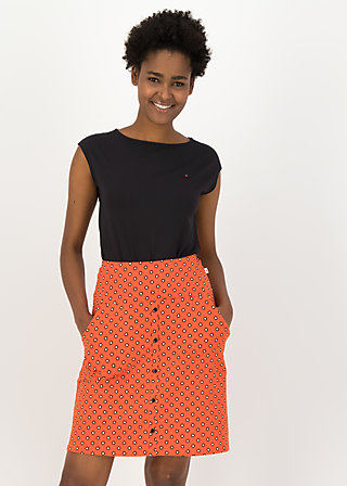 Summer Skirt la vie est super, bingo dots, Skirts, Red