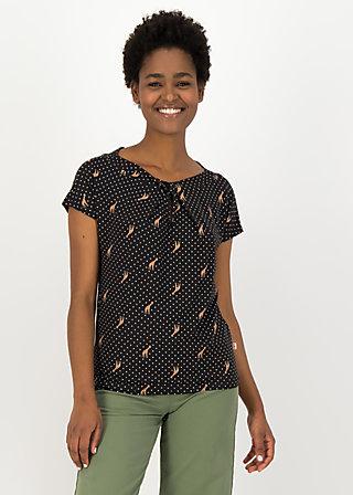 Jersey Shirt safari sailorette, dots of desert, Blusen & Tuniken, Schwarz