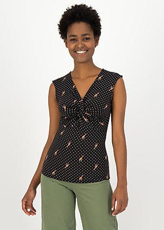 Pinafore Top savanna knot, dots of desert, Shirts, Black