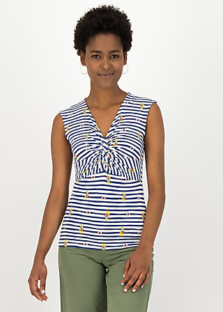 Pinafore Top savanna knot, miss cape town , Shirts, White