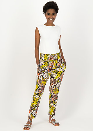 High Waisted Trousers streetlife, tiger treasure, Trousers, Black