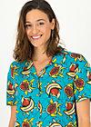 Shirt Blouse tropical sunset, papaya punch, Blouses & Tunics, Turquoise