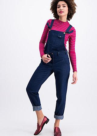 bluejean farm dungarees, western denim , Trousers, Blue
