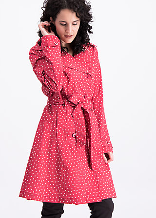 casablanca souvenir trench , dot and love, Jackets & Coats, Red