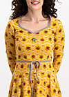 country rose swing dress, born to die, Jerseykleider, Gelb
