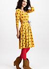 country rose swing dress, born to die, Jerseykleider, Gelb