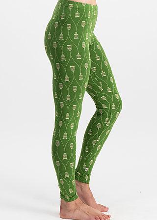 hopp hopp galopp legs, birdie birdcage, Leggings, Green