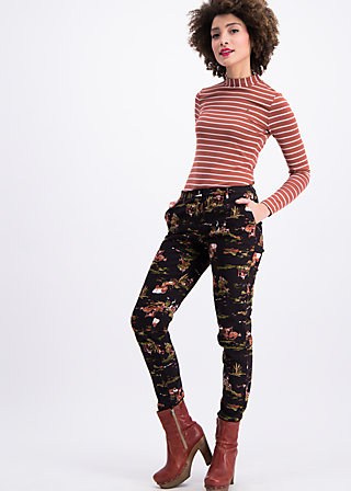 horse & carriage pencil pants , wild wild west, Trousers, Black